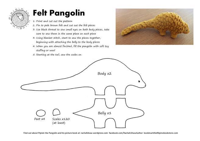 felt pangolin