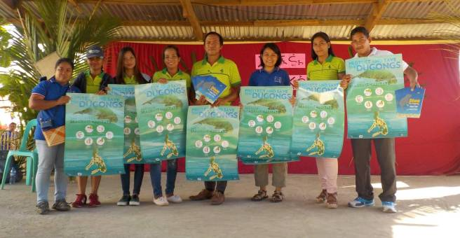 Distribution of Diwa the Dugong picture books and dugong posters in Busuanga