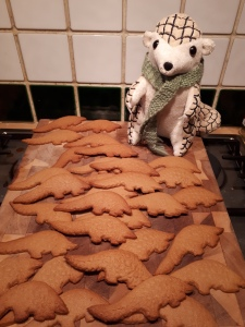Cakes the pangolin with the pangolin cookies