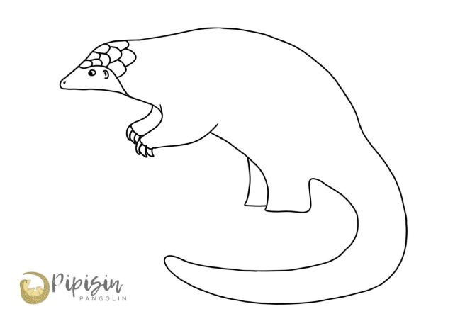 Pangolins need scales colouring page