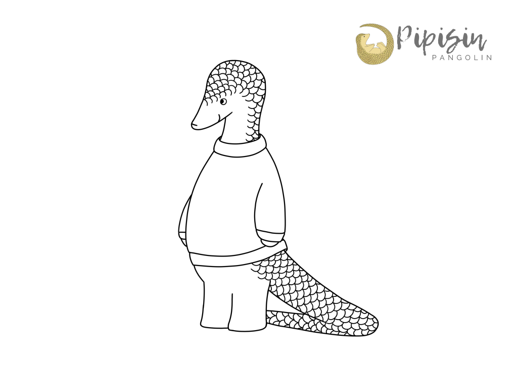 Christmas jumper colouring page